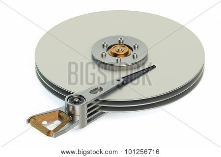 Hard Disk Drive (hdd) View Inside