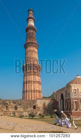 Qutub Minar Tower, Delhi, India