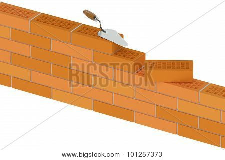 Wall From Building Bricks, Construction Concept