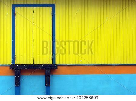 Loading door.