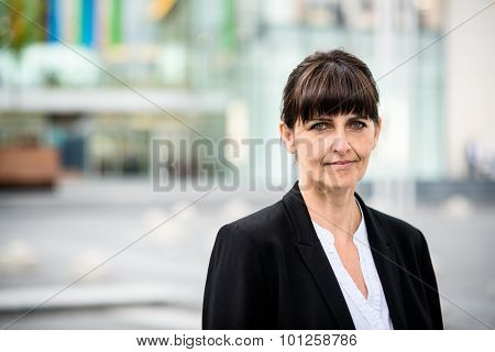 Senior business street woman portrait