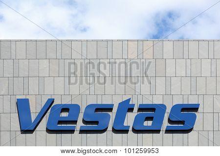 Vestas logo on a facade