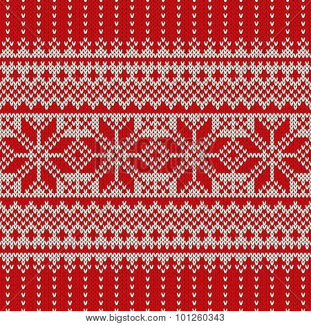 Christmas Sweater Design. Seamless Holiday Knitted Pattern