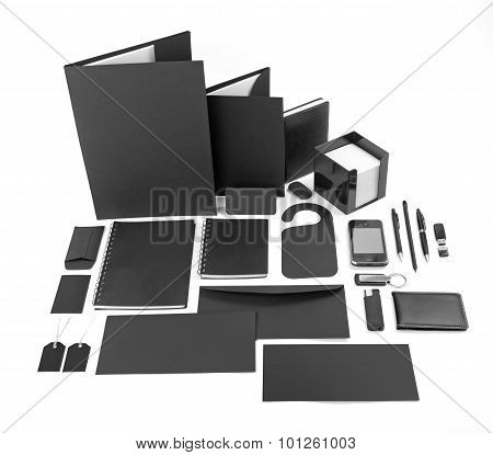 Black Design Elements, Collection Of Corporate Identity