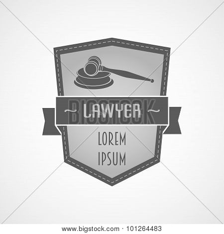 Lawyer Gavel Logo Design In Vector Format