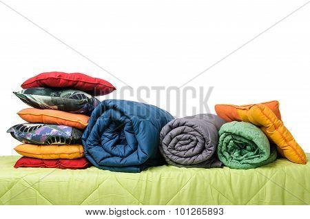 textiles, pillows, blankets
