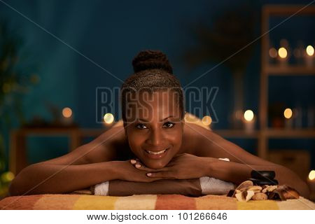 Woman in wellness center