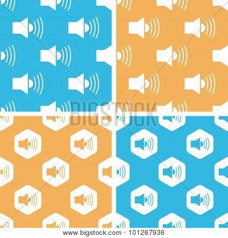 Loudspeaker pattern set, colored