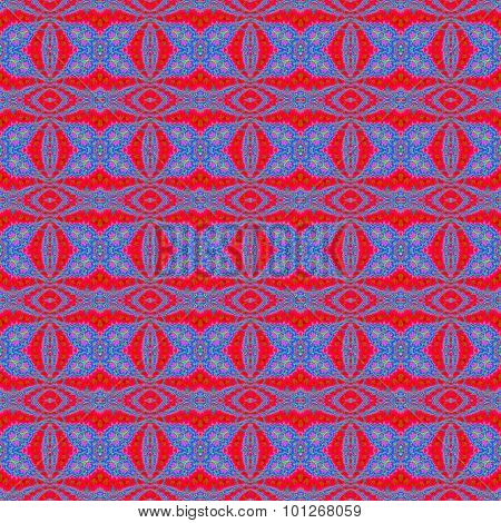 Seamless ellipses and diamond pattern red blue