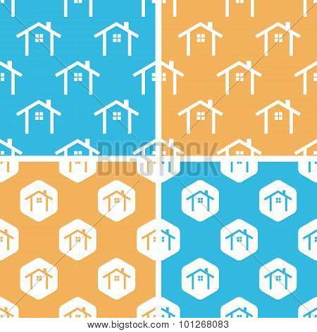 Cottage pattern set, colored