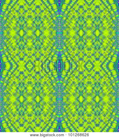 Seamless ellipses pattern green turquoise