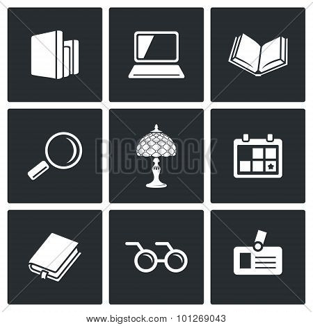 Library Icons. Vector Illustration