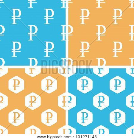 Rouble pattern set, colored