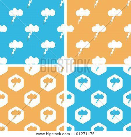 Thunderbolt pattern set, colored