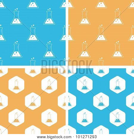 Conical flask pattern set, colored