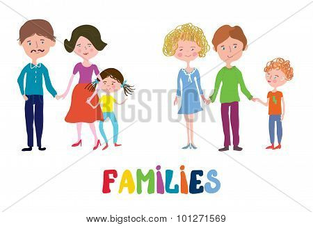 Funny Families Set - Nice And Simple Design