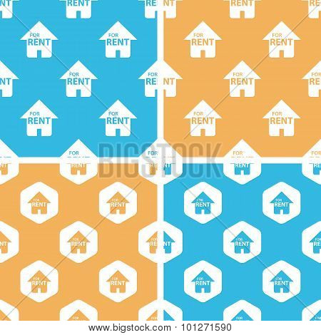 Rental house pattern set, colored