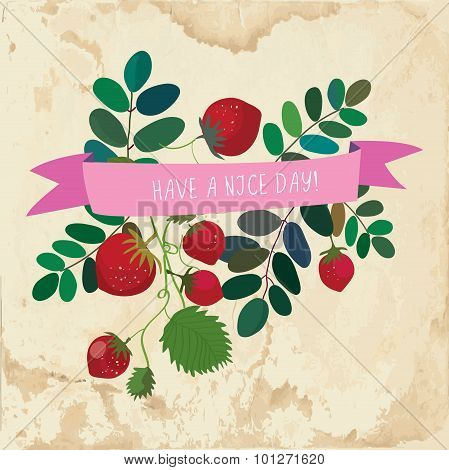 Nice Day Cute Card - Vintage Style