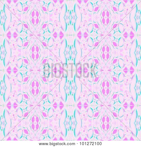 Seamless ellipses pattern pink violet turquoise
