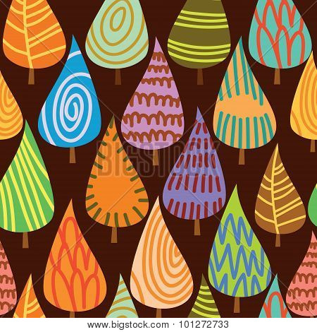 Seamless Pattern With Leafs, Abstract Leaf Texture, Endless Background