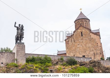 Tbilisi, Georgia - July 28, 2015: Architecture Of Tbilisi, Georgia. Tbilisi Is The Capital And The L