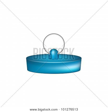 Rubber plug in blue design