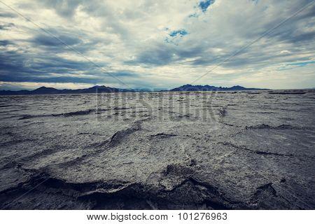 Salt desert in Utan,Bonneville