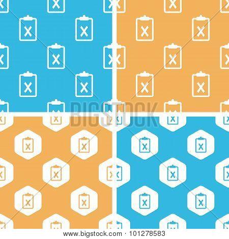Negative result pattern set, colored