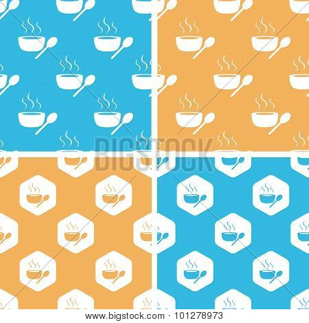 Hot soup pattern set, colored