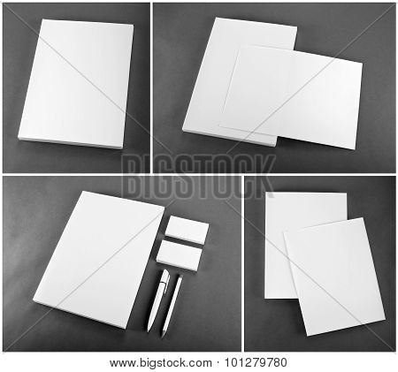 Stationery Set Design. Stationery Template. Corporate Identity.