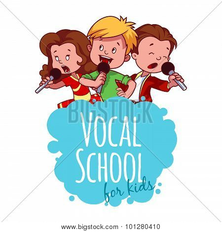 Logo Template For Vocal School.