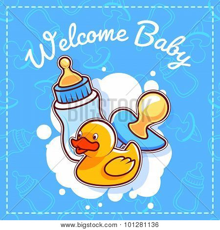 Baby Shower Card: Welcome Baby!