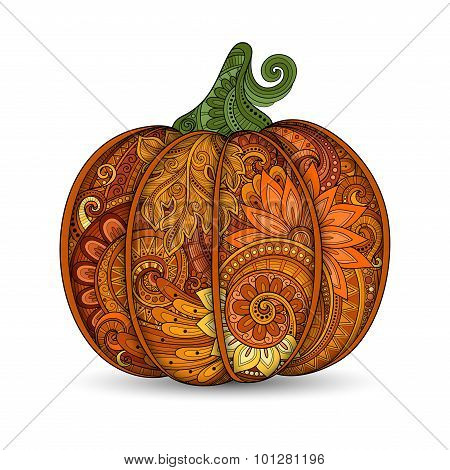 Vector Colored Decorative Punkim With Beautiful Pattern