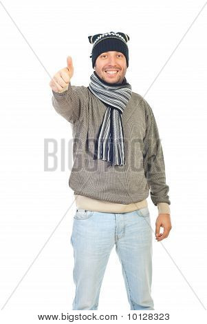 Winter Guy Giving Thumbs