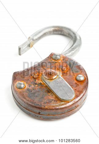 Open Antique Padlock