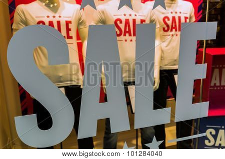 sale in a fashion retail business