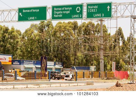 Road Sign In Nairobi