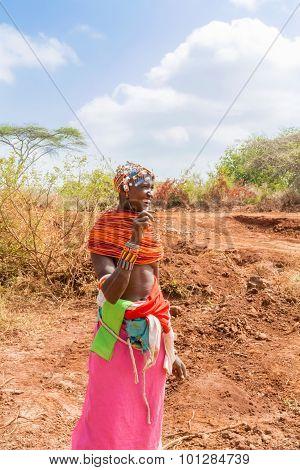 Tribal Woman In Kenya