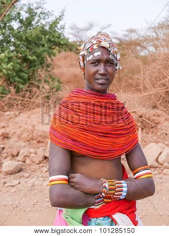 Tribal Woman In Kenya