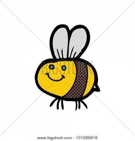 comic book style cartoon bee