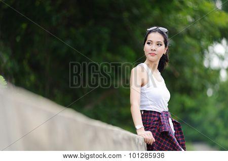 Portrait Thai Beutiful Girl