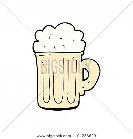 comic book style cartoon pint of beer