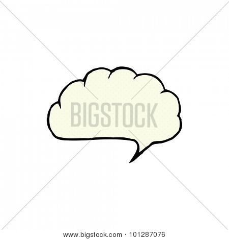 comic book style cartoon speech balloon cloud