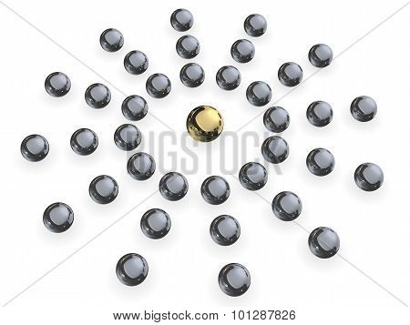 Silver And Gold Sphere