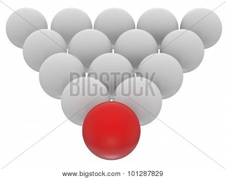 White And Red Sphere