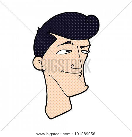 comic book style cartoon confident man