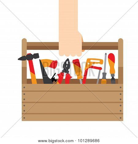 hand box with tools