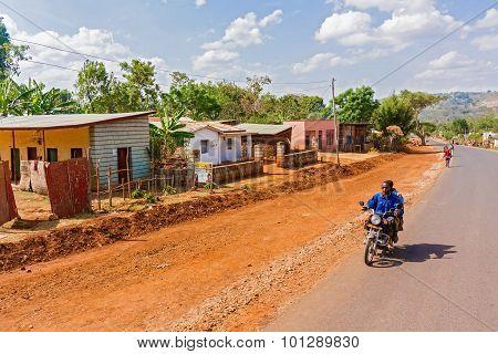 Houses And The Landscape Around Gwangwa In Ethiopia.
