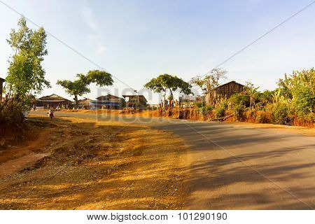 Cuntryside Village In Ethiopia
