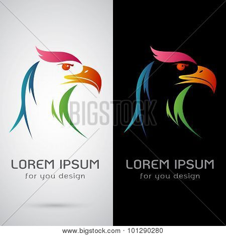 Vector Image Of A Eagle Design On White Background And Black Background, Logo, Symbol